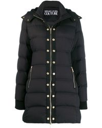 Versace Jeans Couture ジップアップ パデッドコート - ブラック