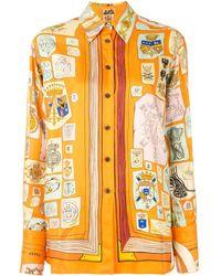Hermès Camicia con stampa Pre-owned - Multicolore