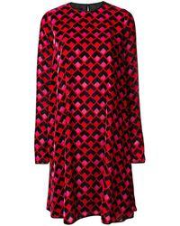 Rochas Long Sleeve Dress - Красный