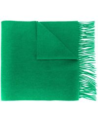 N.Peal Cashmere Woven Cashmere Scarf - Green