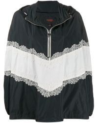 Giambattista Valli Lace Detail Hoodie - Black