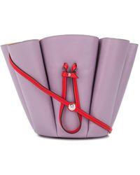 Lanvin Pleated Bucket Bag - Purple