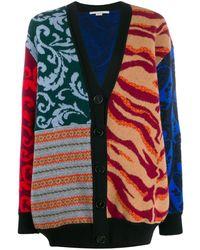 Stella McCartney Cardigan im Patchwork-Look - Mehrfarbig