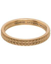 Le Gramme Кольцо Guilloché Из Желтого Золота - Металлик
