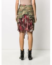Unravel Project Deconstructed Cargo Skirt - Green