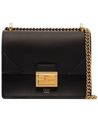 Fendi Black Kan I Small Shoulder Bag