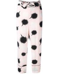 DIESEL - Bow Detail Pjama Trousers - Lyst