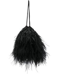Attico - Embellished Feather Pouch Bag - Lyst