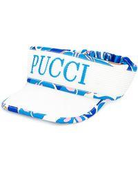Emilio Pucci Logo Embroidered Visor Hat - Blue