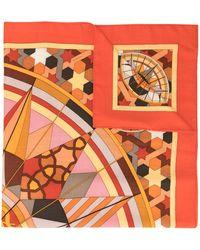 Hermès Sjaal Met Sterrenprint - Oranje