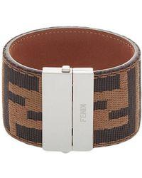 Fendi - Ff Logo Cuff Bracelet - Lyst