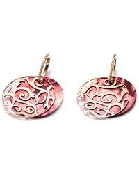 Mattioli 18kt Rose Gold Cut-out Drop Diamond Earrings - Metallic