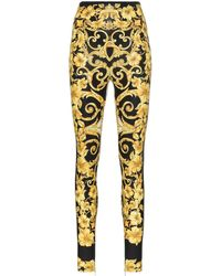 Versace - Baroque High Waist Printed leggings - Lyst