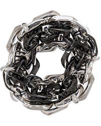 Maison Margiela - Double Chain Link Ring - Lyst
