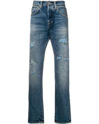 Edwin Ed-55 Jeans Met Smal Toelopende Pijpen - Blauw