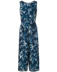 Lygia & Nanny Jade Printed Cropped Jumpsuit - Blue