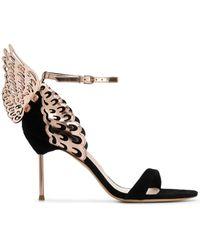Sophia Webster Evangeline Mid Sandals - Black