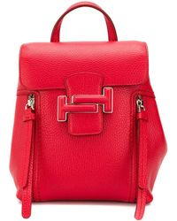 Tod's Double T Buckled Backpack - Red