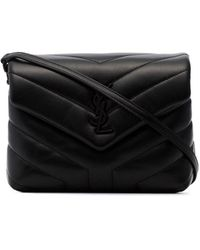 Saint Laurent Toy Loulou Quilted Crossbody - Black