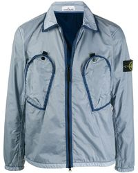 Stone Island Куртка На Молнии - Синий