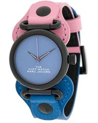 Marc Jacobs The Cuff Tweekleurig Horloge - Blauw