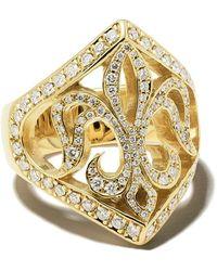 Loree Rodkin 14kt Gold Diamond Maltese Ring - Metallic