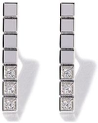 Chopard 18kt White Gold Ice Cube Pure Diamond Earrings - Многоцветный