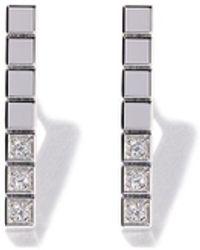 Chopard - アイスキューブ ピュア ダイヤモンド ピアス 18kホワイトゴールド - Lyst