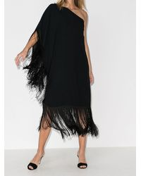 Taller Marmo Vestido con hombro descubierto y borla - Negro