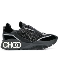 Jimmy Choo Raine Glitter Sneakers - Zwart