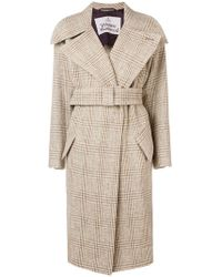 Vivienne Westwood Checkered Trench Coat - Natural