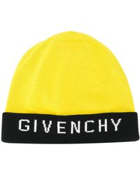 Givenchy Gorro con diseño colour block y logo - Amarillo