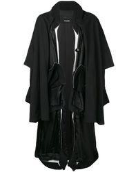 Raf Simons Oversized Layered Coat - Black
