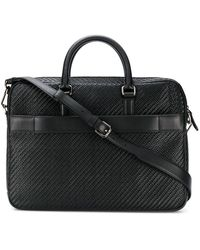Ermenegildo Zegna Woven Briefcase - Black