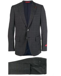 Isaia - Checked Two-piece Suit - Lyst