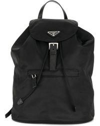 eeffbe157aec Prada - Logo Plaque Nylon Backpack - Lyst