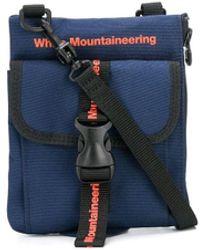 White Mountaineering ロゴ ショルダーバッグ - ブルー