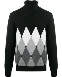 Ballantyne タートルネック カシミア セーター - ブラック