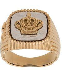 Dolce & Gabbana - Kroon Zegelring - Lyst