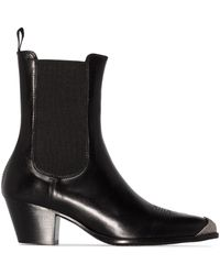 Polo Ralph Lauren Western Style Ankle Boots - Black
