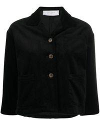 Societe Anonyme Cropped Sleeve Corduroy Jacket - Black