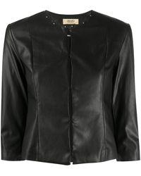 Liu Jo Cropped Faux Leather Jacket - Black
