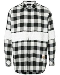Education From Young Machines - Furry Checked Shirt - Lyst