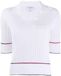 Thom Browne - Polo a coste - Lyst