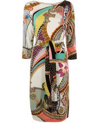 Etro Платье С Поясом На Завязке И Принтом Пейсли - Многоцветный