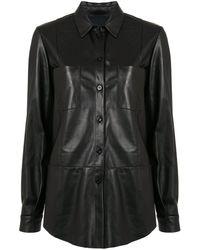 DROMe オーバーサイズ シャツ - ブラック