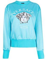 Versace Толстовка С Вышивкой Medusa И Круглым Вырезом - Синий