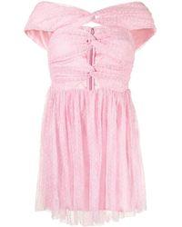 Alice McCALL Illy オフショルダー ドレス - ピンク