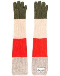 Ganni Lange Handschuhe - Mehrfarbig
