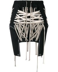 Rick Owens Laced Mini Skirt - Black